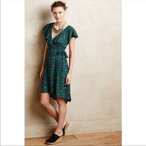 Anthropologie HD In Paris Ruffles Wrap Dress